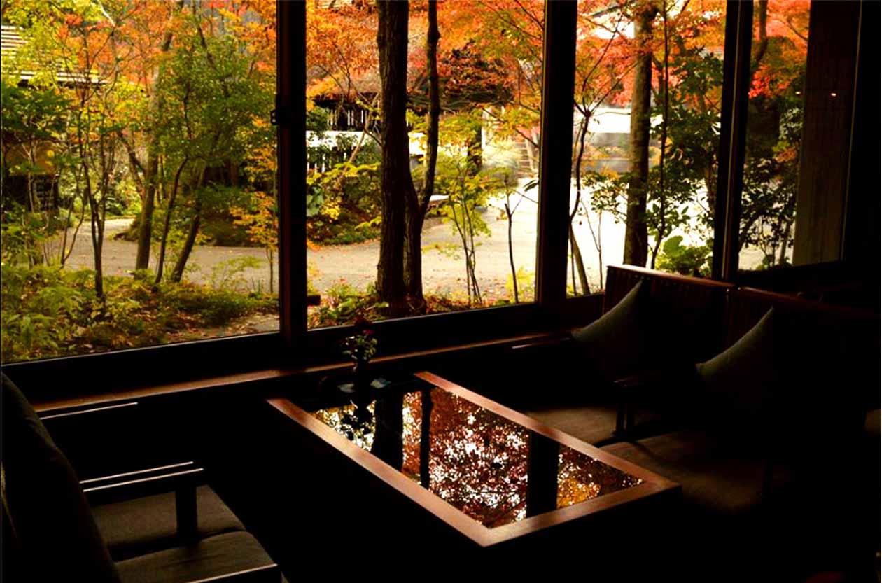 黒川温泉 旅館 奥の湯 ラウンジ