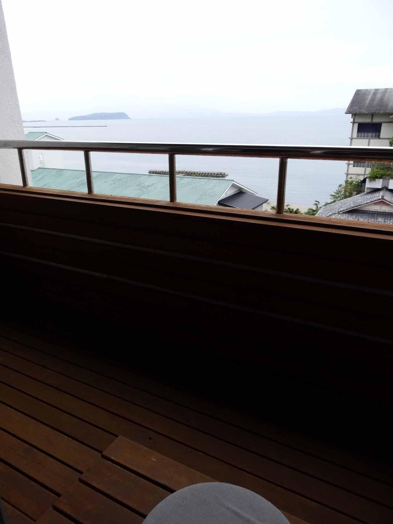 いぶすき秀水園 客室から海