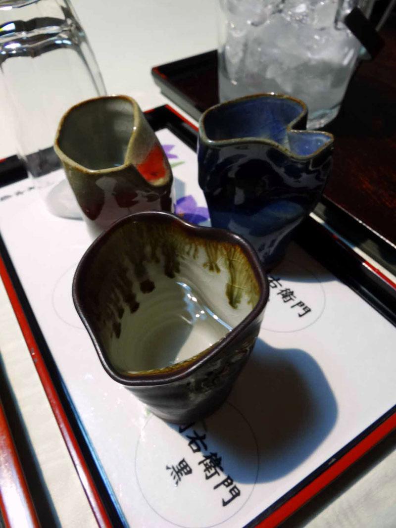 いぶすき秀水園 夕食 焼酎3種利き酒
