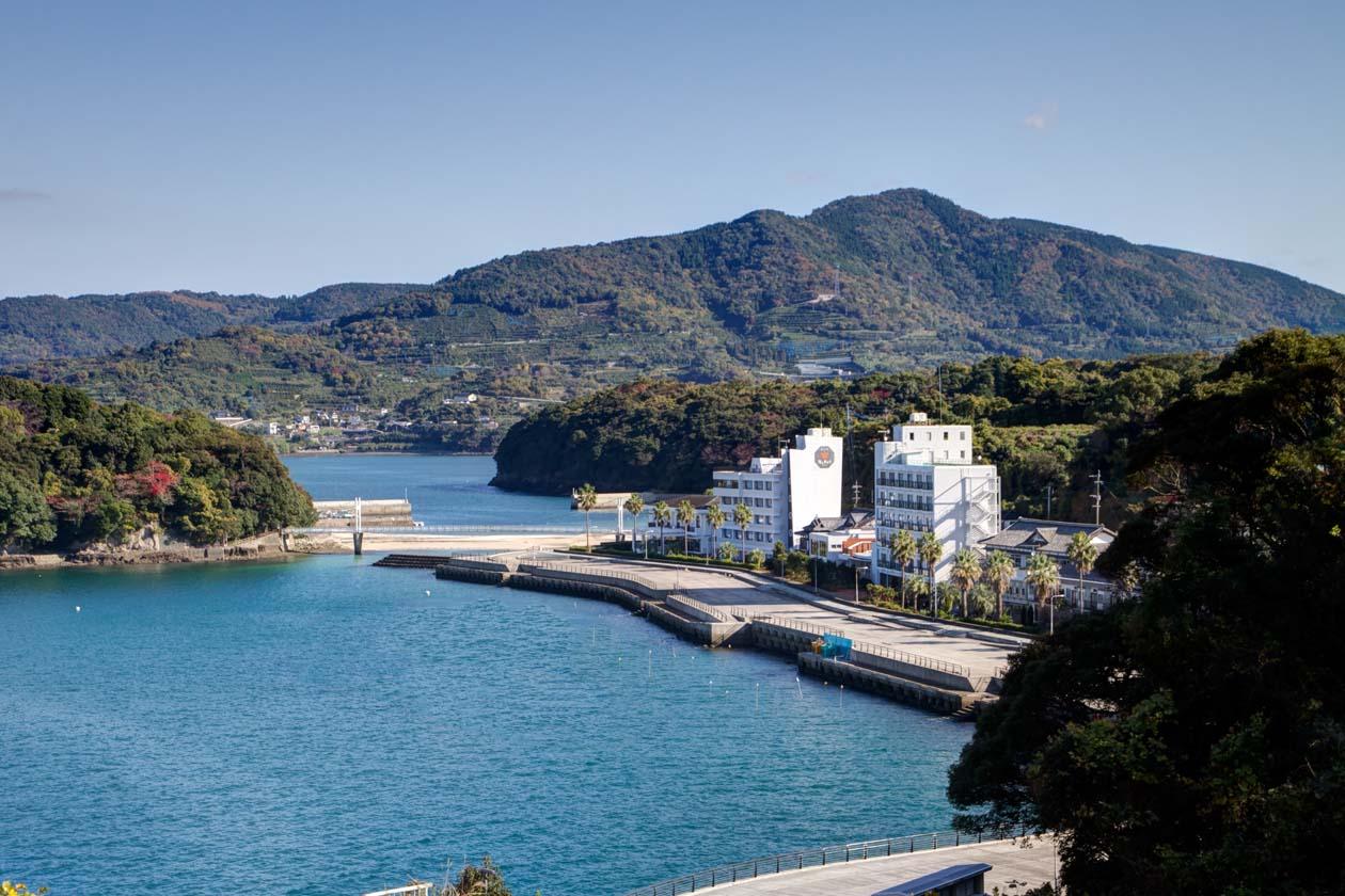 熊本県水俣市湯の児温泉 湯の児 海と夕やけ