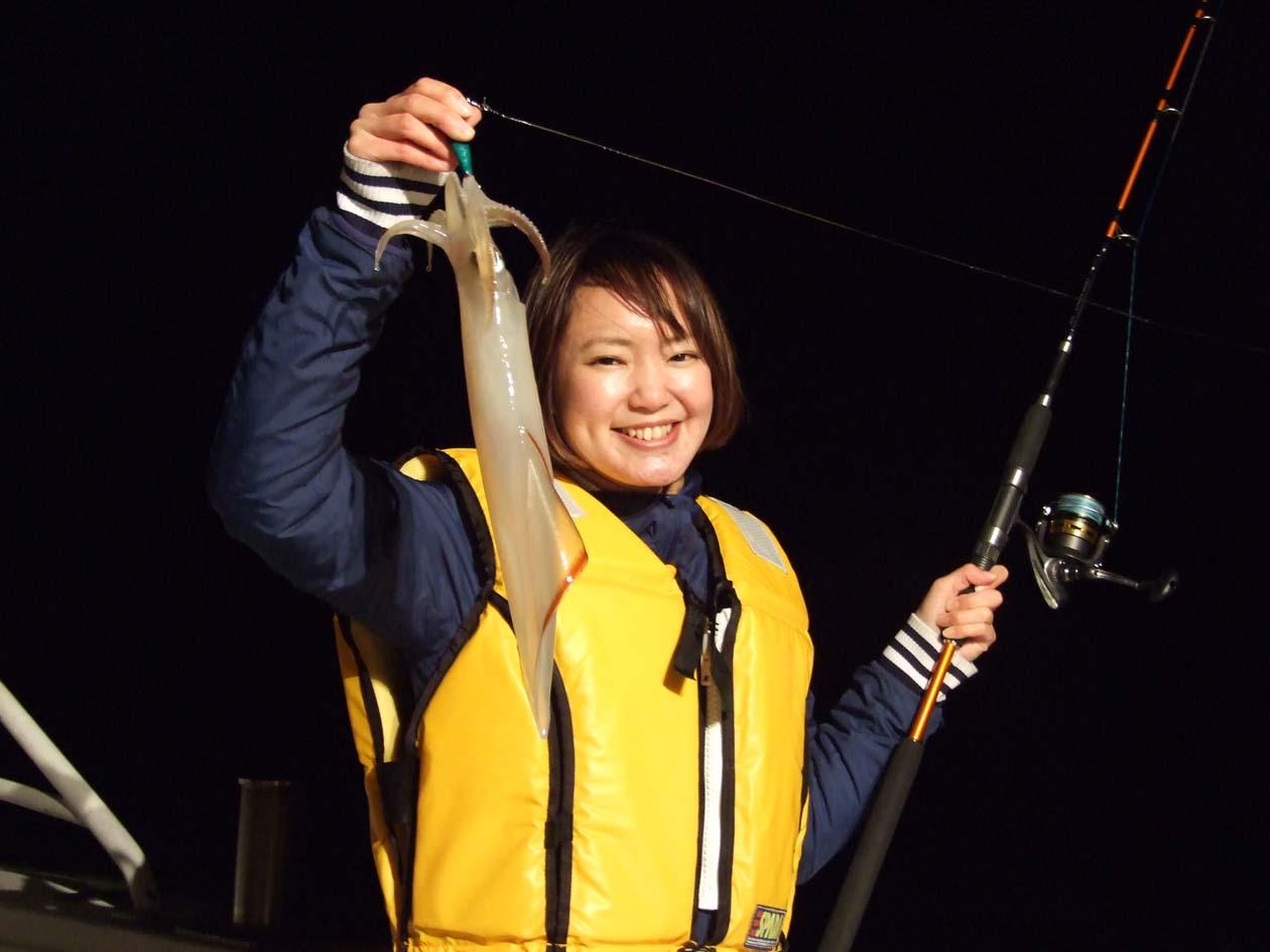 山口県長門市 夜焚きイカ漁体験