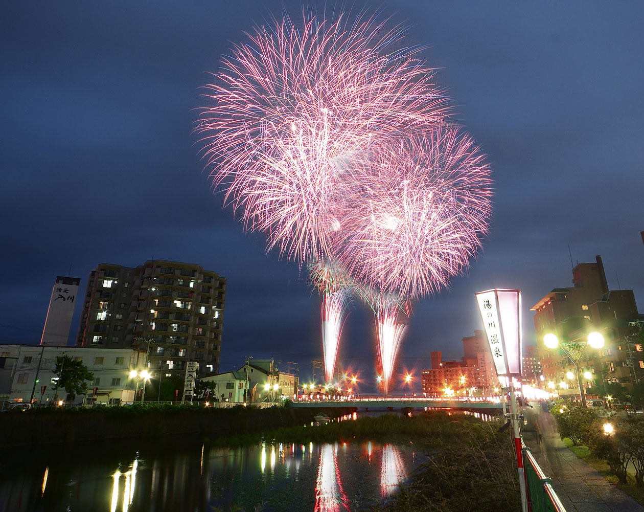 北海道函館市 湯の川温泉花火大会