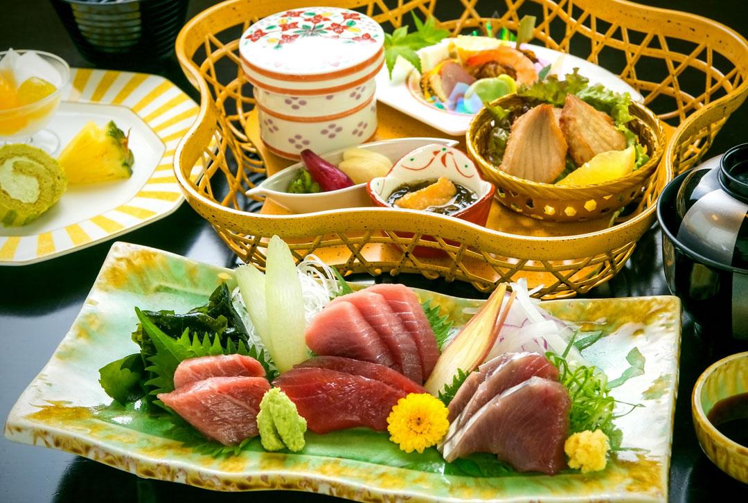 静岡県焼津市 ホテルアンビア松風閣の鮪めぐり膳 鮪めぐり~天然焼津ミナミマグロを味わう~