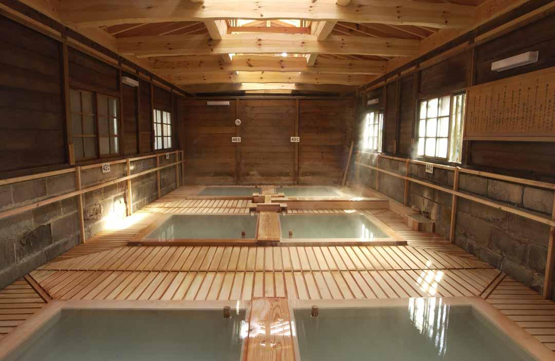 栃木県那須町湯本 那須湯本温泉 鹿の湯