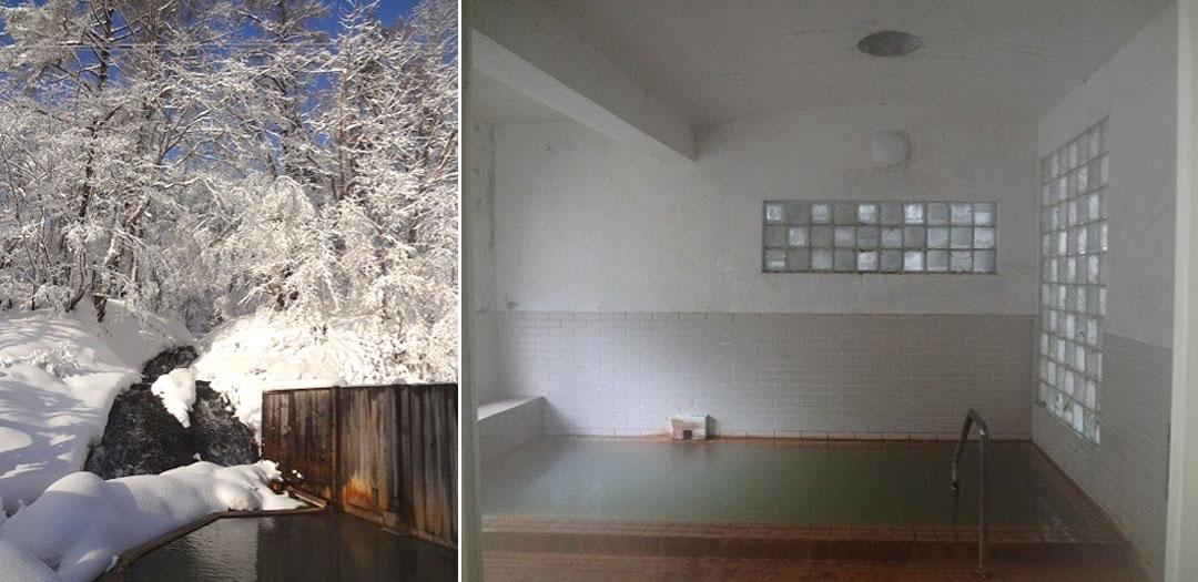 北海道磯谷郡蘭越町 ニセコ 鯉川温泉 源泉かけ流しの紅葉露天風呂 絶景露天風呂